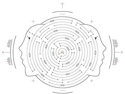 Death by AI? face labirinth vector design illustration geometry code science space sci-fi