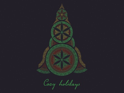 Cozy holidays lithuanian vector design illustration merry christmas postcard christmas holiday card cozy holidays