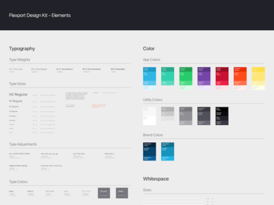 Flexport Design Kit whitespace color typography design kit ui kit ui