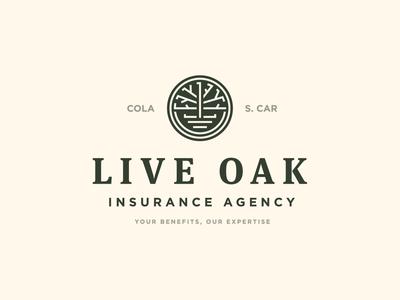 Live Oak logo tree columbia south carolina insurance live oak oak