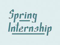 Spring Internship pt. 1