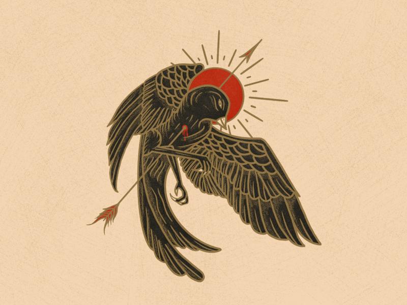 Sacred Dove flying fly death arrow icon sacred dove black bird bird