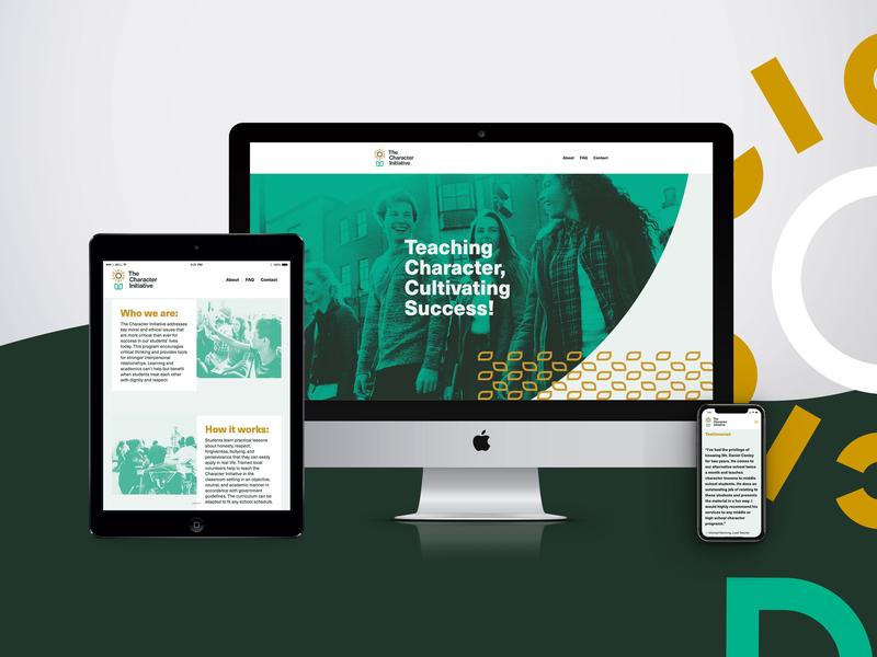 The Character Initiative - Website design typography ui homepage responsive website halftone web