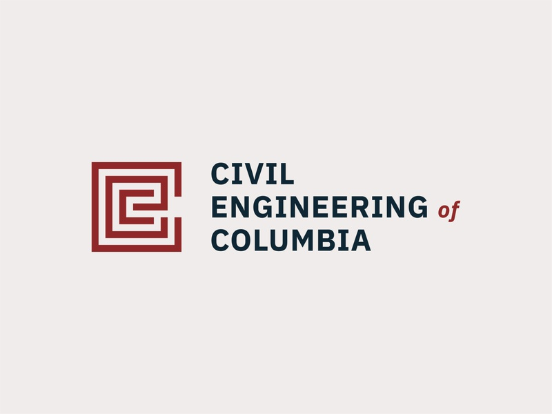 Civil Engineering of Columbia sc columbia engineering civil roads maze identity logo brand