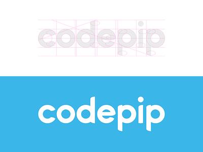 Codepip grid typeface games codepip logotype logo wordmark coding code