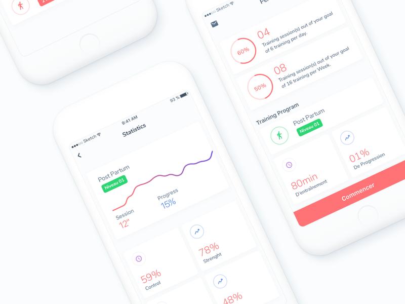 Health Tracking App stats tracking health ios app