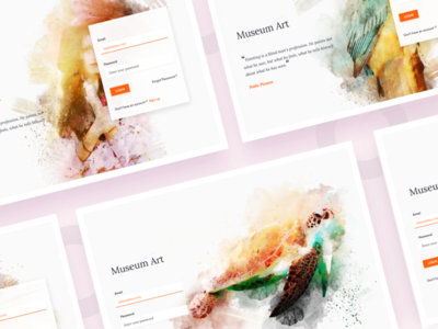 Museum Art login old art landing page webdesign art museum login