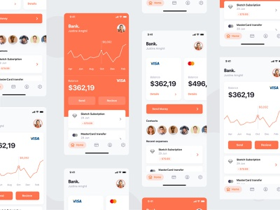 Bank. mobile banking graphs expenses app banking banking app bank card ios app iphone x