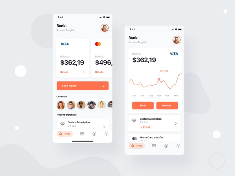 Exploraion - Bank. mobile banking bank app iphone x ios app bank card banking app expenses app banking