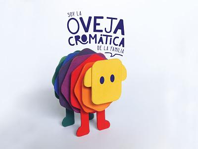 Oveja cromática handmade sheep chromatic colorful