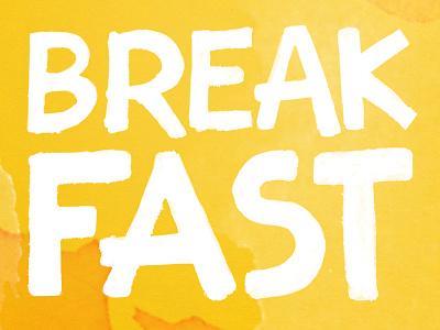 Some People Are Like Breakfast artsy handmade typography breakfast