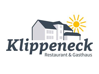Klippeneck house sun illustration logo restaurant