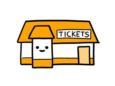 Box Office orange illustration icon