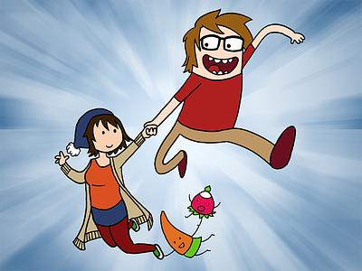 Adventure Time with Svenja and Daniel adventure time comic cartoon illustration cintiq
