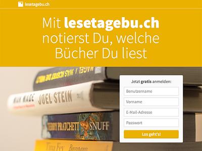 lesetagebu.ch v2 lesetagebuch web website sketch