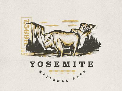 Yosemite National Park adobedraw illustration ipad buffalo bison yosemite el capitan