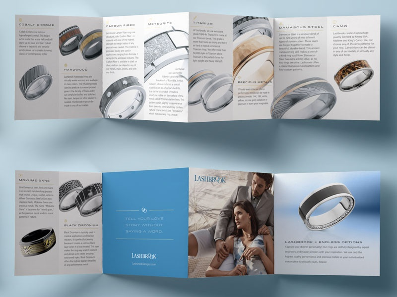Jewelry brochure meteorite brochure jewelry