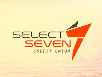 Select Seven Credit Union Logo logo credit union bank seven select brand