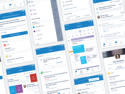 Salesforce Inbox Mobile Design ux redesign calendar app email mobile design visual design