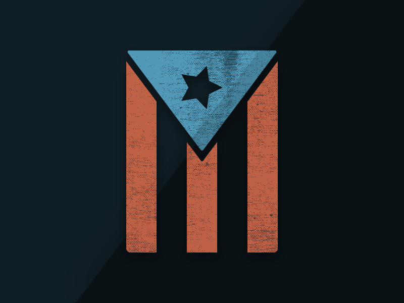 AmericansToo logo american community graphic design dark logo puerto rico humanitarian crisis flag