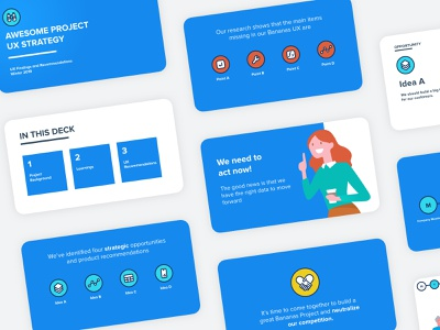 Presentation Design for Product Vision product design pitch deck visual design illustration user experience ux slides presentation design presentation