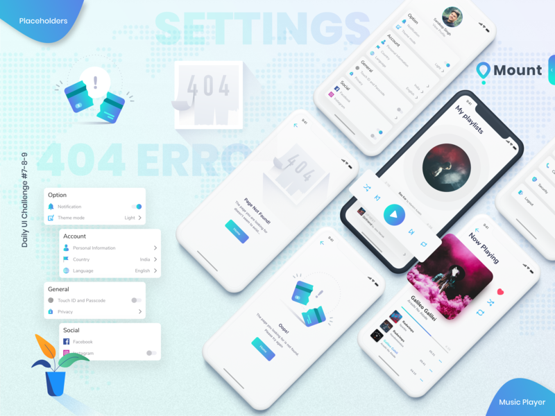 Daily UI Challenge #7-8-9 app ux daily 100 dailyui interaction daily challange daily art daily 100 challenge daily ios mobile application product branding vector sketchapp icon design illustration ui