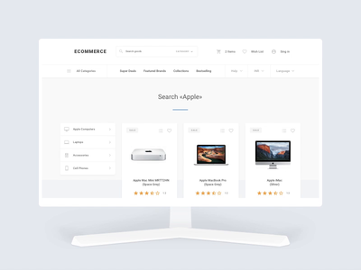 Ecommerce Sample Pages