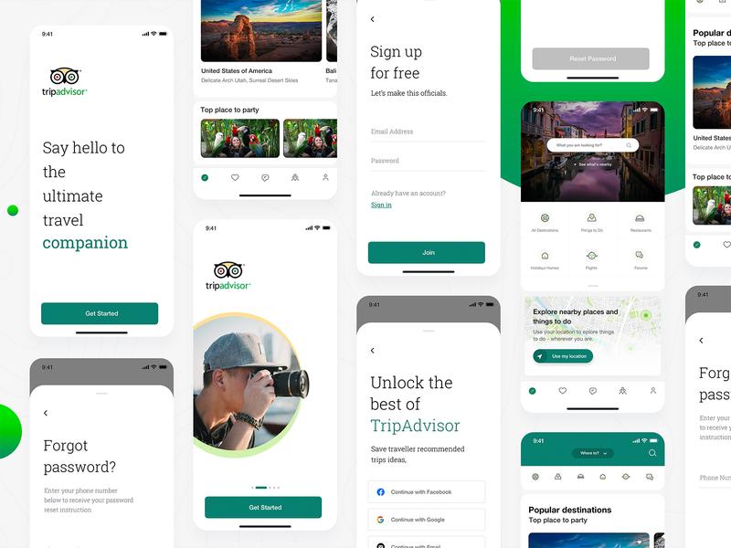 Tripadvisor Redesign 2020 travel agency advent calendar booking booking app mobile interface concept ux ui travel app trip travel