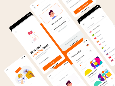 Babble Redesign Concept design icon ios typography app ux flat minimal ui travel language redesign challenge