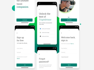 Tripadvisor Redesign 2020 interface mobile ios concept clean typography booking travel flat ux ui design minimal