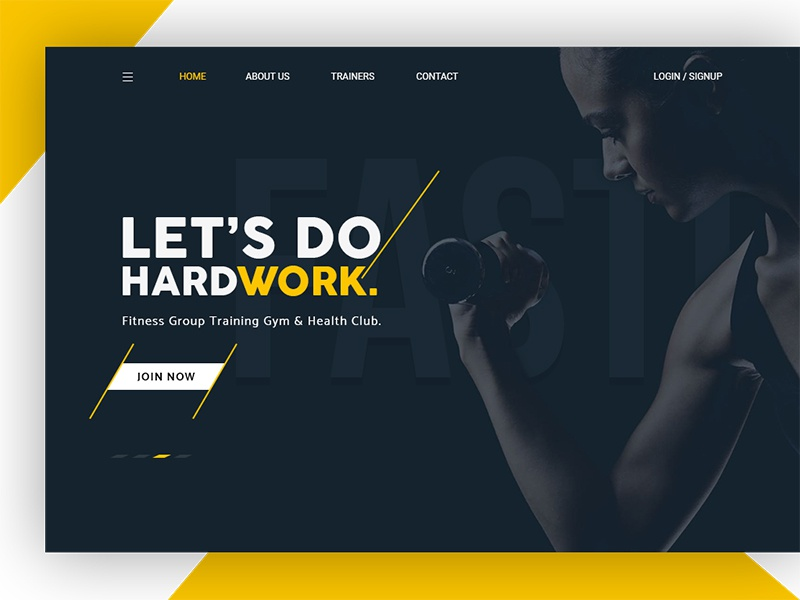 Daily UI #9 - SLAM Fitness Trainer Studio weight design ui training trainer personal page landing gym website fitness cardio