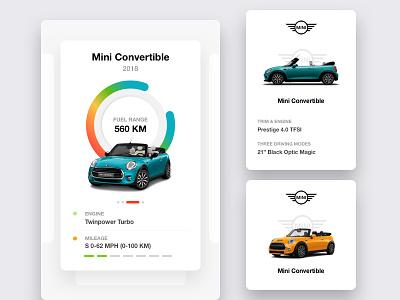 Mini Cooper Car Care Design dashboard white ux ui statistics profile map flat book app