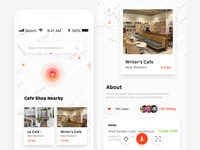Cafeshop - Directory & Listing Mobile Application Concept.