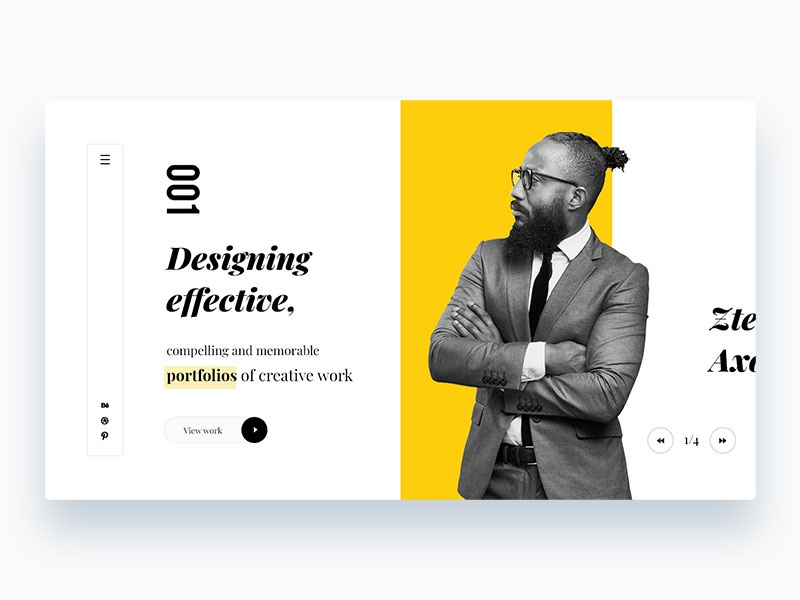 Personal Portfolio Site webdesign ux ui typography shapes portfolio personal page minimalistic minimal landing design