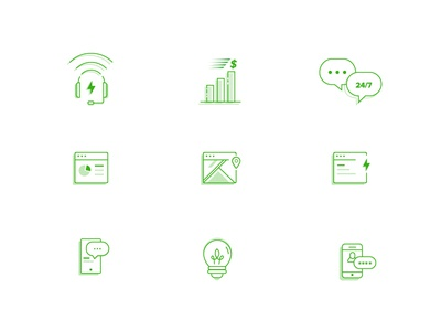 Support Line - Icon Set business agency illustration minimal lineicons iconography support business