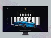 Huracan Lamborghini landing page