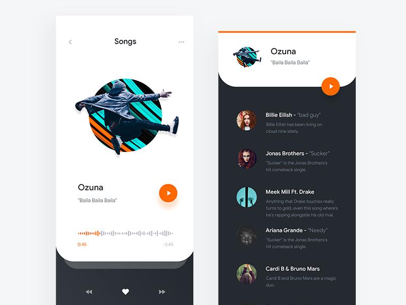 2019 Spotify Minimalistic App by syedhaqil on Dribbble