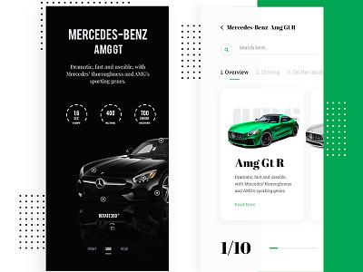 Conceptual Design - Mercedes Benz AMG GT R racing car benz racing car flat ux ui design minimal