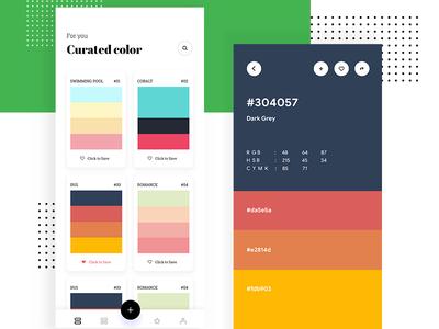 2019 - Color Palettes App Concept design ux ui minimal mobileapp ios challenge dailyui app palette color