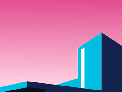 Colorful Architect Building illustration art vector minimal sketch building architect