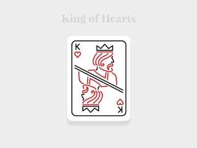 King of Hearts - Weekly Warm-up Serious illustration art design challenge weekly warm-up weekly playingcards cards design illustration