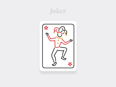 Joker - Weekly Warm-up Serious weekly warm-up weekly challenge dribbble illustrations dailyuichallenge design playingcards cards art