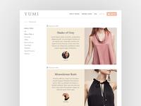 Fashion Website UI