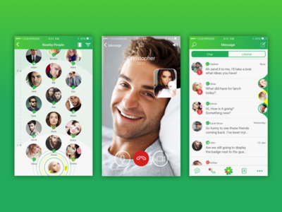 ICQ Redesign Concept ios logo videochat messenger call video social chat canvas redesign icq