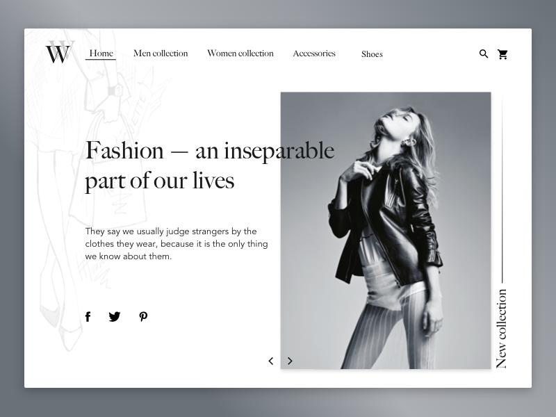 Fashion website 800x600