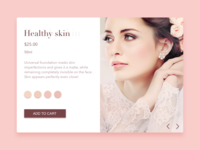 Healthy Skin prototypes mockups wireframes web site pink minimal skin beauty girls concept color