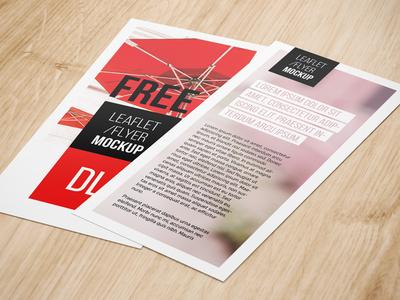 Dl Leaflet Mockup