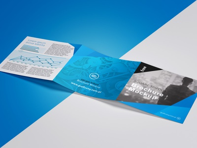 Trifold Leaflet Mockup download freebie photoshop psd mockup trifold flyer leaflet free