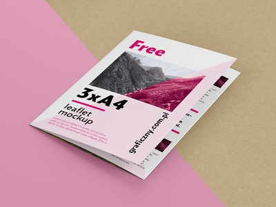 A4 Trifold Leaflet Mockup download freebie photoshop psd mockup trifold flyer leaflet free