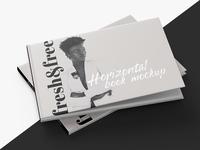Free Horizontal Book Mockup